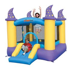 Bounceland™ Inflatable Wizard Magic Bounce House - OrientalTrading.com