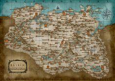 Beautiful Map of Skyrim