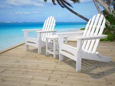 White Polywood Adirondack Chairs Outdoor At The Beach Polywood Adirondack Chair Adirondack Chair Kit Wooden Adirondack Chairs Polywood Adirondack Chair Kits Adirondack Chairs Lowes Poly
