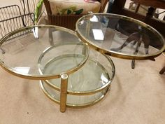 Mid-Century Modern Swing out Round Coffee Table by TheCubbySpace on Etsy