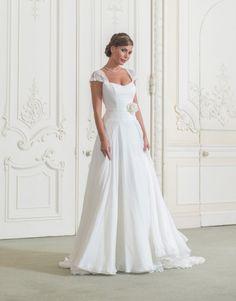 Brautkleider  luxury wedding dresses chiffon and satin sweetheart court train flowers A-line Wedding Dress NO.848