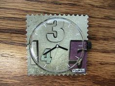 "Timehouse S.T.A.M.P.S. Watch - NIB Raumzeit""  greys and puple #stamps"