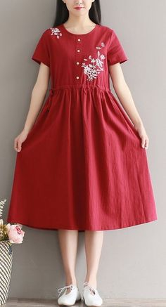 Women loose fit plus over size ethnic flower pocket dress tunic Bohemian Boho #unbranded #dress #AnyOccasion