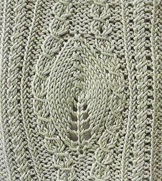 Free Knitting Patterns: Large leaf and twists