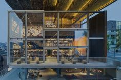 Ga.A Architects founder Moongyu Choi designed a music library in the heart of Seoul, Korea