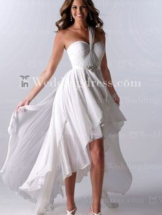 Cheap cheap bride gowns, Buy Quality beach wedding gowns directly from China wedding gowns Suppliers: vestido de noiva New Arrivals One Shoulder High Low Wedding Dresses Short Front Long Back Beach Wedding Gown Cheap Bride Gowns White Beach Wedding Dresses, Wedding Dress Chiffon, Cheap Wedding Dress, Wedding Dress Styles, Bridal Dresses, Wedding Gowns, Bridesmaid Dresses, Party Dresses, Occasion Dresses