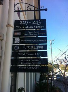 San Jose Signs   Tenant Directories   Architectural signs   Menu ...