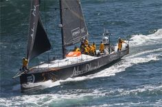 Abu Dhabi Ocean Racing out on the course to start Leg 9 in #Lorient IAN ROMAN / #volvooceanrace