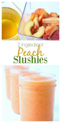 Slushies Peach Slushies are a delicious summertime treat! Simple, wholesome, and only Slushies are a delicious summertime treat! Simple, wholesome, and only Peach Smoothie Recipes, Smoothie Drinks, Fruit Smoothies, Healthy Smoothies, Healthy Drinks, Healthy Breakfasts, Milkshake Recipes, Healthy Food, Eating Healthy