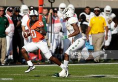 News Photo : Running back Jeff Carr of the Oklahoma State...
