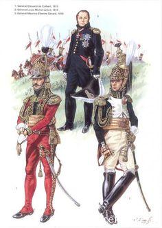 Napoleon's Commanders (2) 1809-1815 1_Général Edouard de Colbert 1815 2_Général Louis Michel Lefort 1815 3_Général Maurice Etienne Gérard 1815