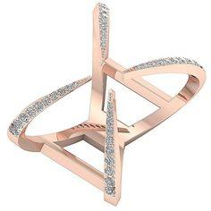 2df5a98b444 Natural Diamond Wedding Ring SI1 G 0.50Ct 14KT White Yellow Rose Gold Prong  Set