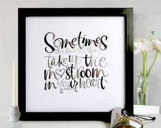 A A Milne quote in brush calligraphy lettering by Kirsten Burke.