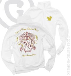 ALPHA GAMMA DELTA KIRSTEN JACKET $44.50 perfect for any Nole Gam <3 I want this so bad!!!!