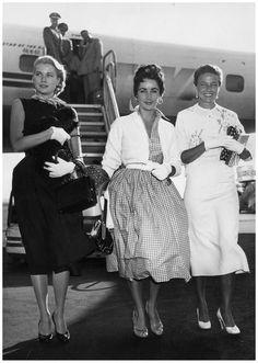 Грейс Келли, Элизабет Тейлор и Лорейн Дэй, 1955