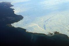 Aerial view of the edge of the ice in Nunavut 2 - Calentamiento global - Wikipedia, la enciclopedia libre