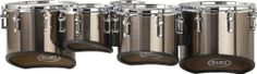 """Mapex QUANTUM MULTI TOMS 6"""", 8"""", 10"""", 12"""", 13"""" Grey Steel by Mapex. $775.99. The Mapex Quantum multi-toms are marching drums that feature interior plies of walnut for superior warmth that results in better projection of tone and pitch. This shell combined with the deep progressive cut produces a loud, full, and dark overall sound that doesn't get choked at high tension. The lightweight aluminum tube style lug minimizes hardware to shell contact, and creates an ..."""