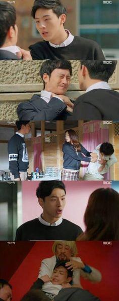 Ji Soo defending the woman he loves! So cute!