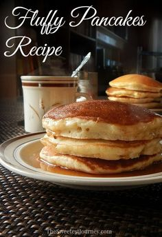 How to Make Fluffy Pancakes From Scratch | Recipe- I tried these, they were good! But a little eggy.