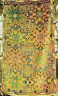 226. Artsakh (Karabagh), cross and star design, Armenian inscription of 1815, Erevan, Museum of Folk Art. Photo: Museum of Folk Art