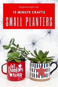 15 minute crafts: small planters - Kingston Crafts