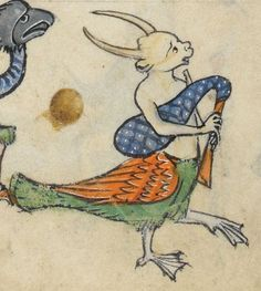 """Detail from """"The Rutland Psalter"""", medieval British Library Add MS… Medieval Music, Medieval Life, Medieval Art, Medieval Manuscript, Illuminated Manuscript, Medieval Paintings, Illumination Art, Book Of Hours, You Draw"""