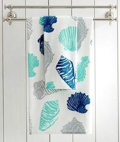 Cotton Seashell Bath Towels on Sale at PB: http://www.completely-coastal.com/p/coastal-sale-island.html