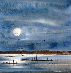 Night on the Marshes by Keith Nash