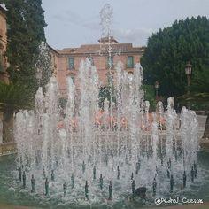Fuente de #Glorieta de #España en #Murcia y el Sol de #Otoño.  #murciagrafias #murciaquéhermosaeres