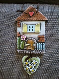 Genuine Porcelain China Made In Japan Ceramics Projects, Clay Projects, Clay Crafts, Diy And Crafts, Clay Houses, Ceramic Houses, Ceramic Pottery, Ceramic Art, Clay Wall Art