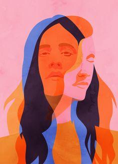 Colorful Pop Illustrations by Petra Eriksson – Fubiz Media