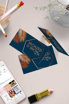 Bronzed & Brow By Ali | EyeSavvy Design Studio | Brand Design, Logo Design, Beauty Business Card, Visual Brand#Bronze#BrandIdentity#Logo#Design#microblading #spraytanning