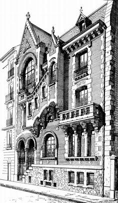 19   Данная серия гравюр знакомит нас с различными направлениями архитектуры. В публикации представлены особняки, замки, общественные дома и другие здания, построенные в стиле модерн, барокко, ампир, классицизм. Часть1   ARTeveryday.org