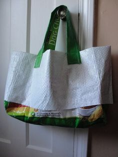 didn't even know this was possible but now that I do you can take a guess what I will be doing with Mojo's next empty puppy chow bag.... http://homeandgarden.craftgossip.com/category/recycle-crafts/