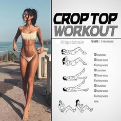 Have you tried the crop top workout yet? It's super effective and does … – Have you tried the crop top workout yet? It's super effective and so much fun! … – Have you tried the crop top workout yet? It's super effective and does … – Have you tried the … Fitness Workout For Women, Fitness Workouts, Body Fitness, Physical Fitness, Leg Workout Women, Slim Waist Workout, Lower Belly Workout, Smaller Waist Workout, Slim Thick Workout