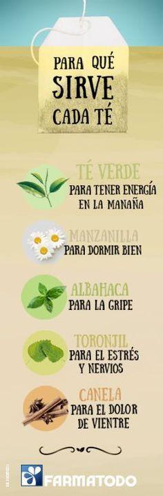 Conoce la función de cada té y #ViveSaludable #Nutrición y #Salud YG > nutricionysaludyg.com | Top secrets | Pinterest | Salud, Tes and Calm Down