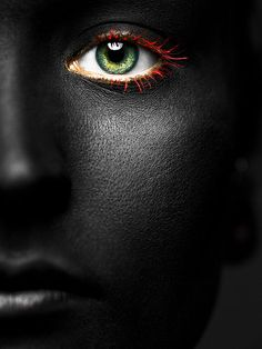 Green Eye and Red Lashes ~