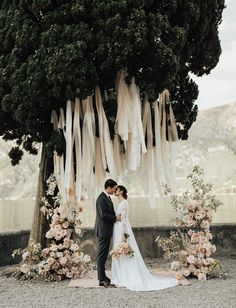 Lake Como Italy Wedding- romantic ceremony flowers and hanging fabric installati. Lake Como Italy Wedding- romantic ceremony flowers and hanging fabric installation for this dreamy Lake Como wedding Wedding Ceremony Ideas, Wedding Venues, Destination Wedding, Budget Wedding, Wedding Reception, Wedding Planning, Romantic Weddings, Elegant Wedding, Perfect Wedding