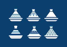 Tajine Moroccan Ceramics Free Vector Logo Design, Moroccan Pattern, Logo Restaurant, Kawaii, Linocut Prints, Arabesque, Graphic, Logo Inspiration, Art Images