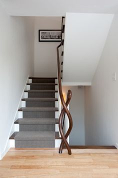 A Lakeside Contemporary Spreads its Wings - contemporary - staircase - burlington - Mary Prince