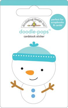 Snowman Doodle Pop - So cute!