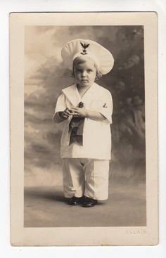 Real Photo Postcard child in sailor Suit