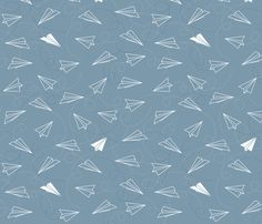 Paper Jets fabric by jenimp on Spoonflower - custom fabric