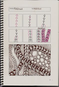 Life Imitates Doodles: New tangle pattern Fohbraid