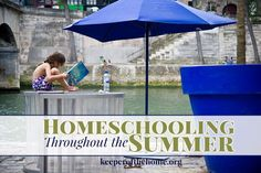 Have you considered homeschooling during summer? Even if you don't homeschool? There's lots of benefits, and it can be lots of fun and laid back! Here's why one family homeschools year round, and how they do it – without stress or burnout!