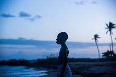 "Chiron ""Little"" all'inizio del film Moonlight 🌊🌌"