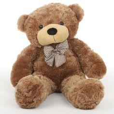 Giant Teddy - Honey Tubs Plush Amber Teddy Bear 32in - Giant Teddy