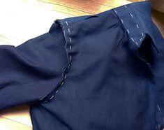 Tutorial para confeccionar una camisa clásica de mujer Shirt Sewing Patterns, Hand Stitching, Sewing Shirts, Jackets, Make A Shirt, Printed Cotton, Sewing Tutorials, Pattern Cutting, Pets