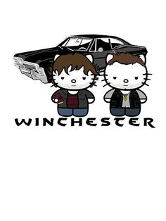 Sam & Dean Winchester - Supernatural Kitty by Tracey Gurney