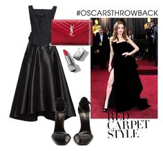 """Untitled #365"" by mirun on Polyvore featuring Eliza J, Dolce&Gabbana, Yves Saint Laurent, Burberry, RedCarpet, Oscars, redcarpetstyle and OscarsThrowback"